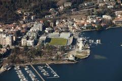 Porto e stadio di Como Stock Image