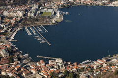 Porto e stadio di Como Royalty Free Stock Photos