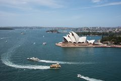 Porto e Sydney Opera House Fotografie Stock Libere da Diritti