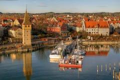 Porto em Bodensee, Alemanha de Lindau Imagem de Stock Royalty Free