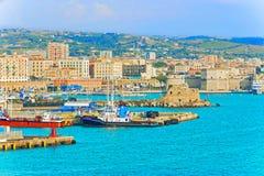 Porto em Civitavecchia, Itália Fotos de Stock Royalty Free
