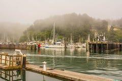 Porto em Fort Bragg, Califórnia Imagem de Stock Royalty Free