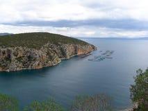 Porto em Grécia litoral Imagens de Stock Royalty Free
