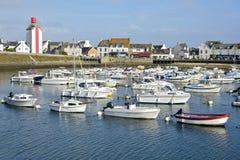 Porto em Guilvinec em França fotografia de stock royalty free