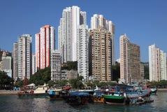 Porto em Hong Kong Aberdeen Fotos de Stock