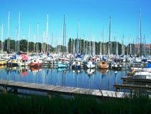 Porto em Hoorn, Holanda norte fotografia de stock