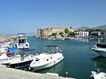 Porto em Kyrenia, Chipre Foto de Stock Royalty Free