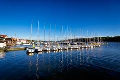 Porto em Mikolajki, Polônia Imagens de Stock Royalty Free