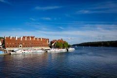 Porto em Mikolajki, Polônia Fotografia de Stock