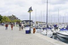 Porto em Puerto Calero foto de stock royalty free