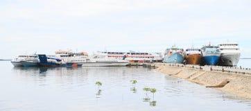 Porto em Sorong Fotos de Stock Royalty Free
