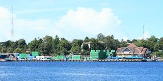 Porto em Sorong Fotografia de Stock