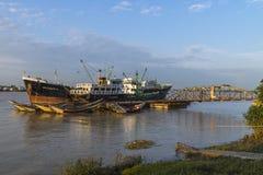 Porto em Yangun Imagem de Stock Royalty Free