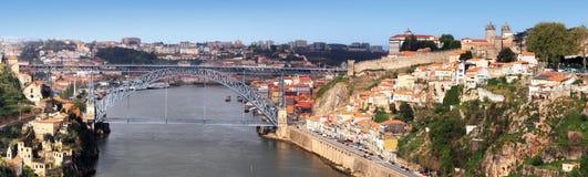 Porto en Douro Rivier, Portugal Stock Afbeeldingen