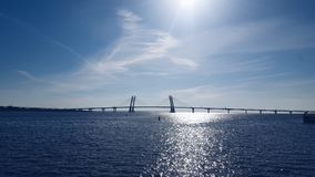 Porto ensolarado de Sevkabel em St Petersburg Fotografia de Stock