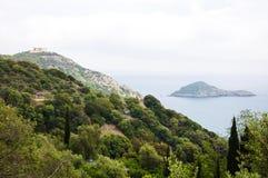 Porto Ercole îlot l'Italie Photographie stock libre de droits
