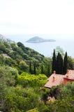 Porto Ercole îlot l'Italie Photos libres de droits