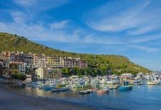 Porto ercole city. Port Hercule Mount Argentario Tuscany Stock Image