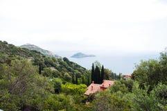 Porto Ercole eilandje Italië Stock Foto's