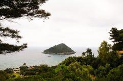 Porto Ercole islet Italien Stockfoto