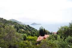 Porto Ercole islet Italien Stockfotos
