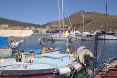 Porto ercole, tuscany, italy, europe. Porto ercole, port, argentario, berthed boats into the port, tuscany, italy Stock Images