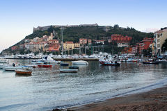 Porto Ercole in Tuscany in Italy Royalty Free Stock Photos
