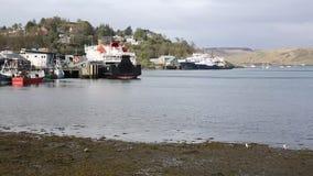 Porto escocês britânico da costa oeste de Escócia do porto de Oban na bandeja da mola filme