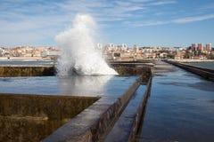 Porto falochron, Portugalia wybrzeże Obraz Royalty Free