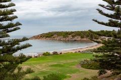 Porto a ferro di cavallo Elliot South Australia della penisola di Fleurieu della baia il 3 aprile 2019 immagini stock