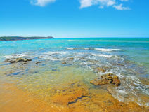 Porto ferro shore on a clear day. Italy Stock Images
