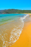 Porto ferro shore on a clear day. Sardinia Royalty Free Stock Images
