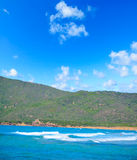 Porto Ferro shoreline on a clear summer day Royalty Free Stock Photography