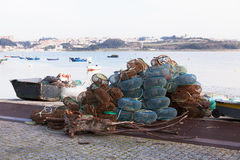 Porto Fishing Nets, Portugal Stock Images