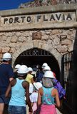 Porto Flavia em Sardinia Foto de Stock Royalty Free