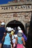 Porto Flavia w Sardinia Zdjęcie Royalty Free