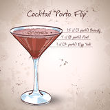Porto Flip Cocktail royaltyfri illustrationer