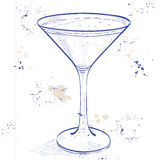 Porto Flip Cocktail em uma página do caderno Imagem de Stock Royalty Free