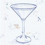 Porto Flip Cocktail på en anteckningsboksida vektor illustrationer