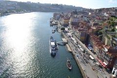 Porto flodsida, Portugal Royaltyfri Fotografi