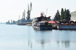 Porto fluvial Foto de Stock Royalty Free
