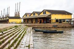 Porto fluvial Foto de Stock