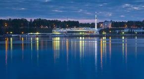 Porto fluvial no Rio Volga Imagens de Stock