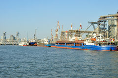 Porto fluviale. Fotografie Stock