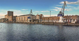 Porto fluviale industriale interno fotografia stock libera da diritti
