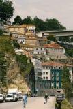 Porto Fontainhas sąsiedztwa brzeg rzeki domy Fotografia Stock