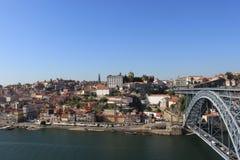 Porto från bron Arkivfoto