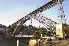 Porto, Gaia et la passerelle Images libres de droits