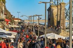 Porto gatasikt, Portugal royaltyfria foton