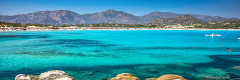 Porto Giunco beach, Villasimius, Sardinia, Italy. Royalty Free Stock Photography
